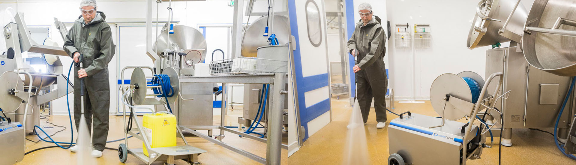 Hydroclean cleaner for food industry